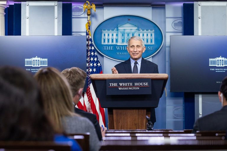 Infectologista Anthony Fauci   Foto: Chandler West/White House